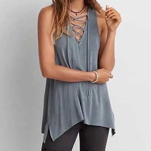 AE Soft & Sexy Lace Up Jegging Tank